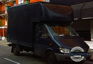 Brentford-black-garbage-truck